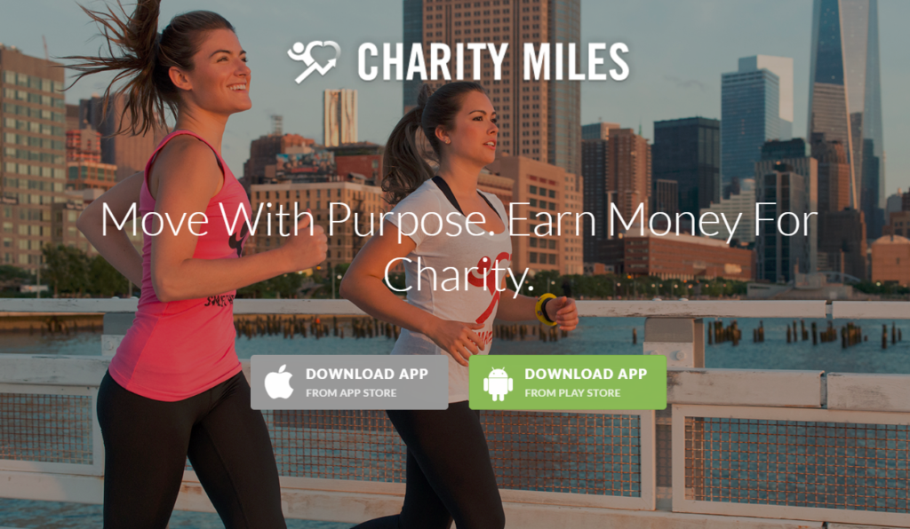 Mobile Apps for Fitness - Charity Miles