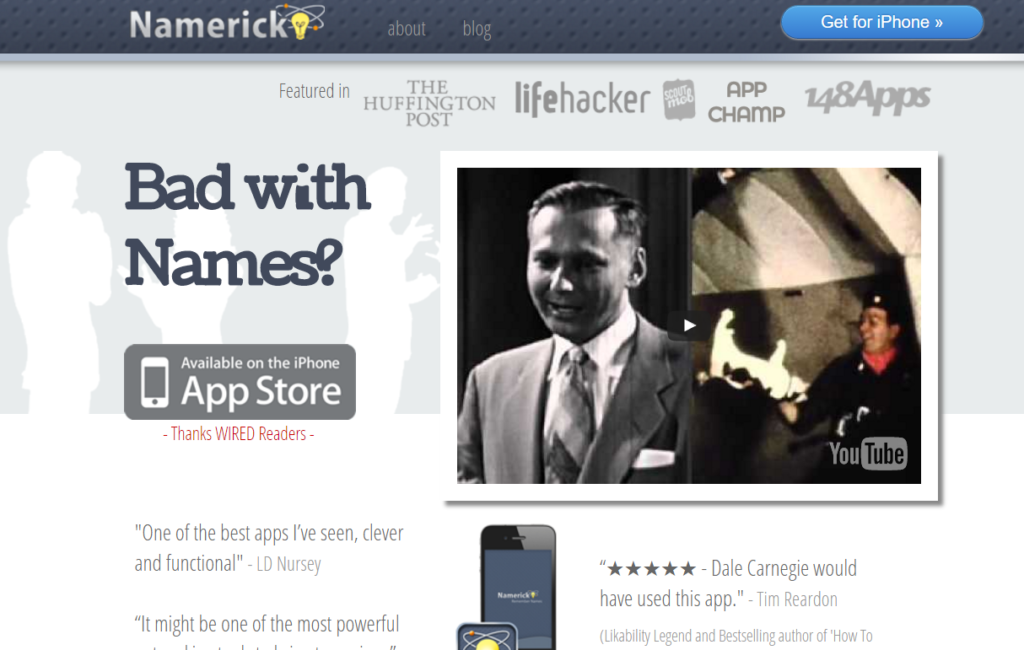 Business Networking Apps - Namerick