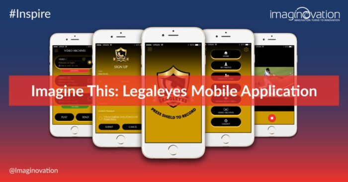 Imaginovation Portfolio - Leagleyes Mobile Application