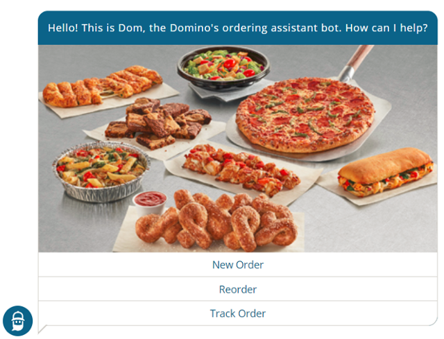 Chatbot application - Domino's ordering assistant bot