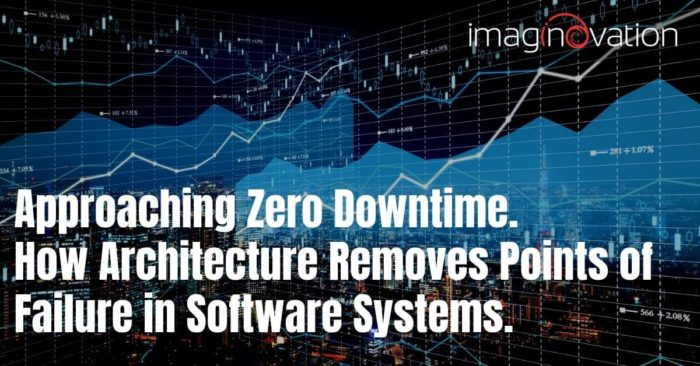 Role of software architecture in achieving zero downtime